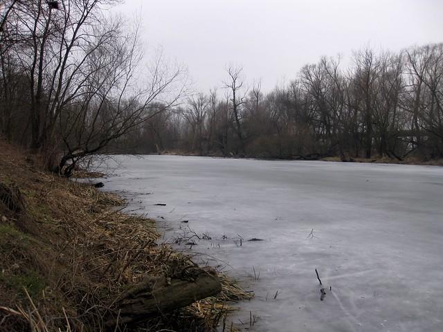 Frozen pond near Zelčin
