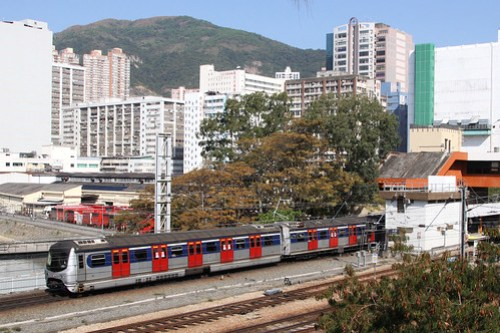 Arriving at Fo Tan station
