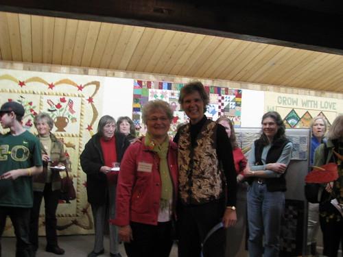 Phyllis Dickenson & Marilyn @QuiltWorks
