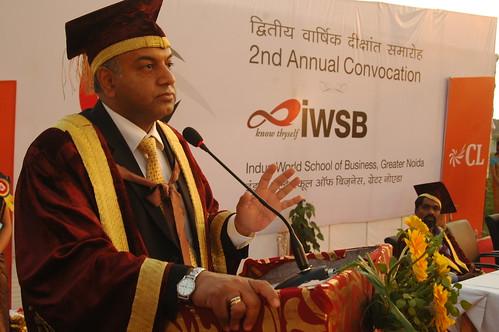 Sanjeev Bhikchandani, Founder Naukri.com delivering convocation address