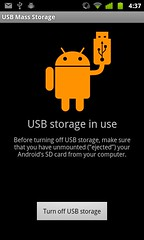android usb storage bug