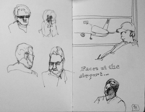 Faces at the airport