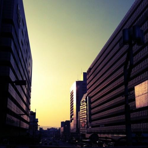 (^o^)ノ < おはよー! 今朝の大阪、快晴です。 #Osaka #morning