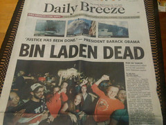 Bin Laden Dead Front Page news!