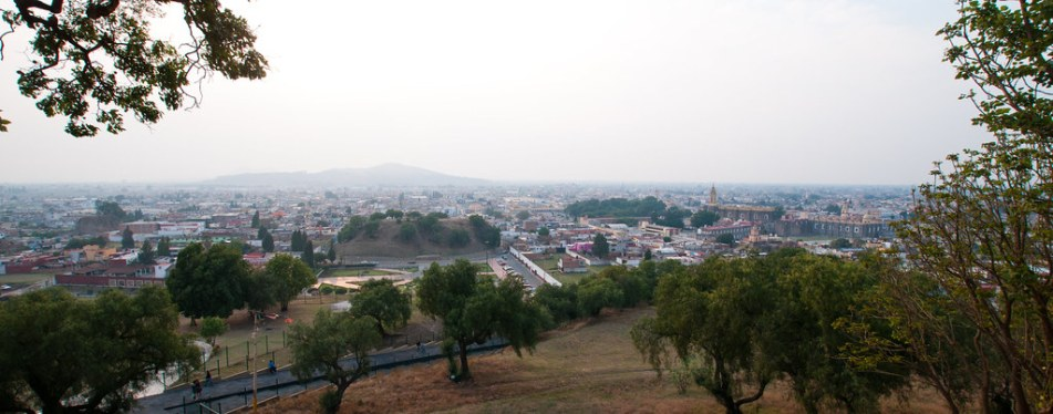 Cholula church view from top