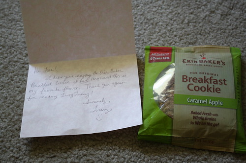 Living Lindsay giveaway--Erin Baker's Breakfast cookie