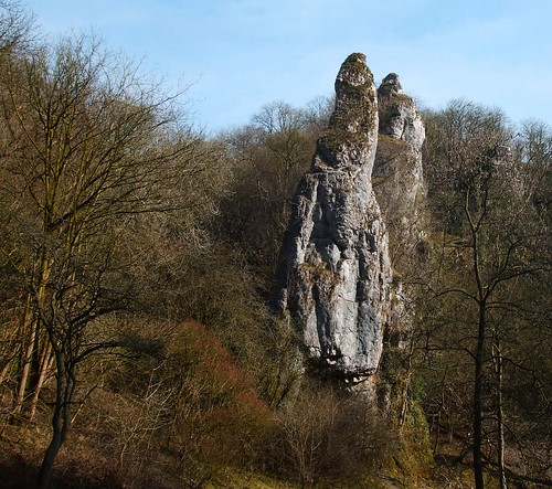 Scary rock at Dovedale