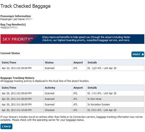 Delta Bag Tracking