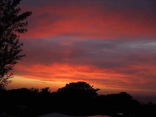 Sunset over Little Meadow, Devon