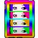 Psychedelic Bright Eyes ipad Case