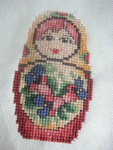 x-stitch: Babushka (Russian) Doll (small)