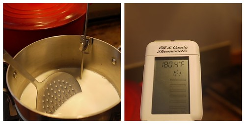 Yogurt - heating the milk