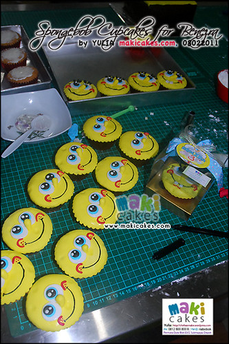 Spongebob Cupcakes for Benezra _how1 - Maki Cakes