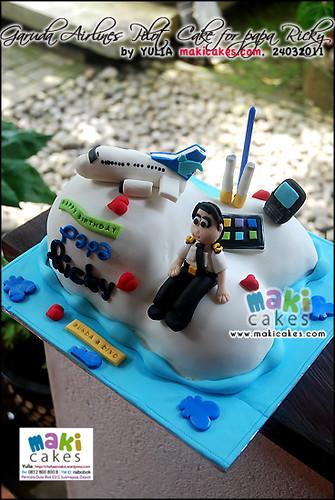 Garuda Airlines Pilot Cake for Papa Ricky_ - Maki Cakes