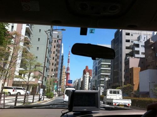 bGeigie lift off! Tokyo Tower - CPM = 49 0.13uS/HR