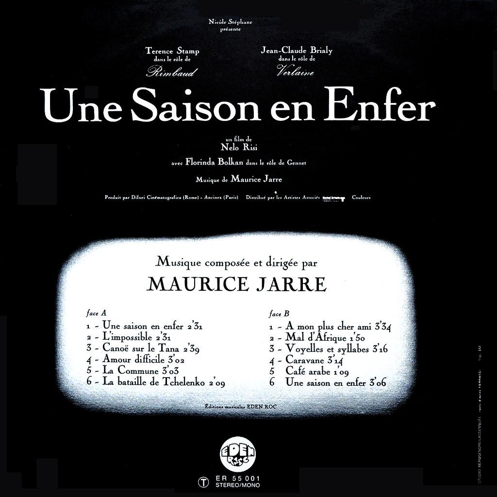 Maurice Jarre - Une saison en enfer