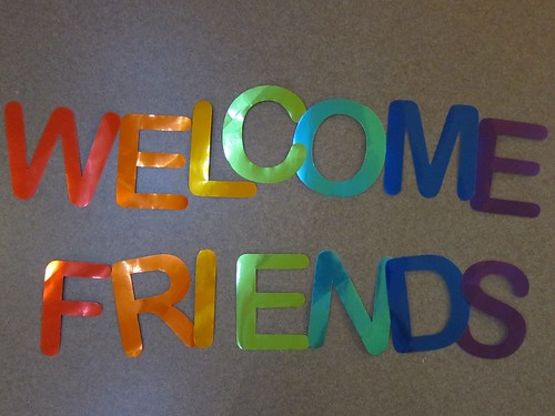 Welcome Friends Message Bunting Construction
