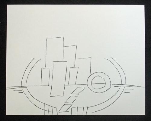 original sketch, low horizon/horizontal composition © lynne medsker