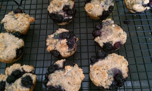 Sunday morning blueberry muffins!
