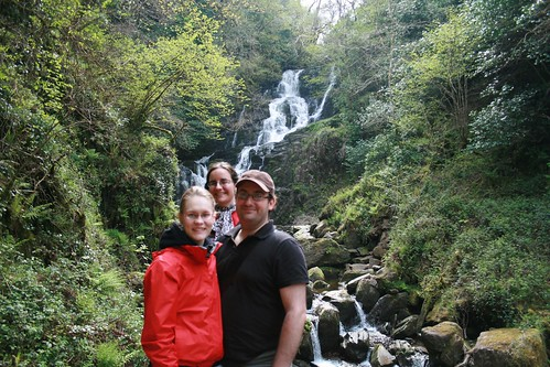 Bro, Sis and soon to be Sis at Torc Waterfall