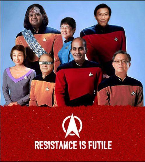 The entire SDP team as Star Trek crew