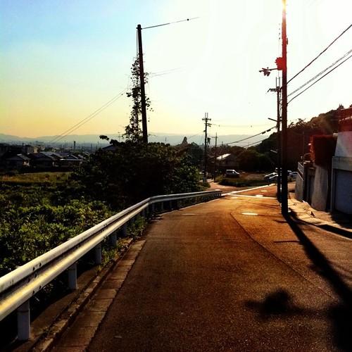帰り道…いま駅まで歩いてまーす! 今日も一日、お疲れ様でした。#sunset