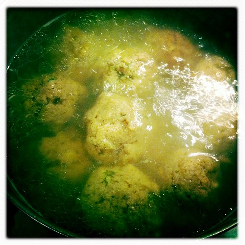 Whole Wheat Matzo balls in soup