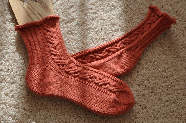 Zen Waves socks, completed.