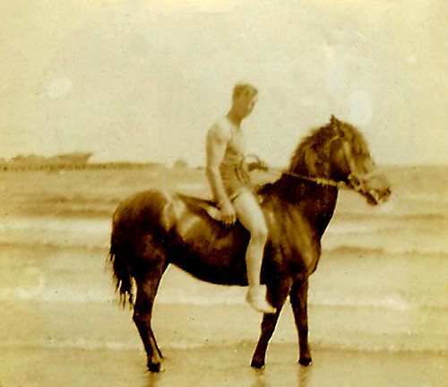 Dad on Buff at Pt Melbourne Stan Taylor Snr2 by SpearLily