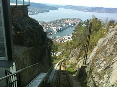 The funicular. Should've walked back down though