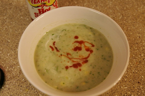corn chowder with coconut and watercress 003