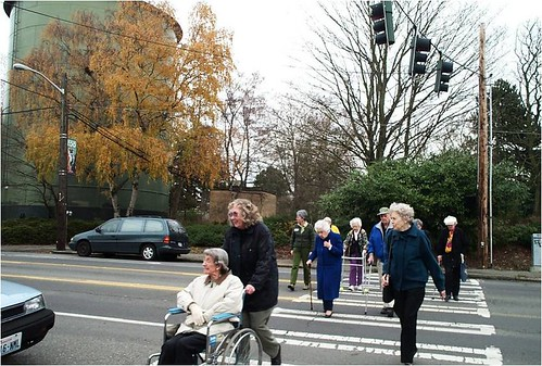 Seattle has a program to help seniors enjoy walking (via: Walk Friendly Communities/PBIC)