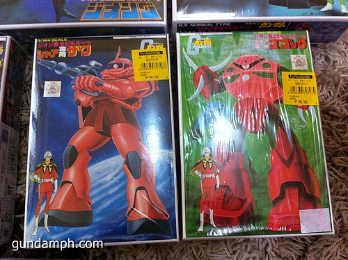 old school char zaku and zgok