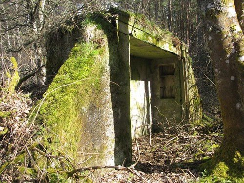 Abandoned concrete structure