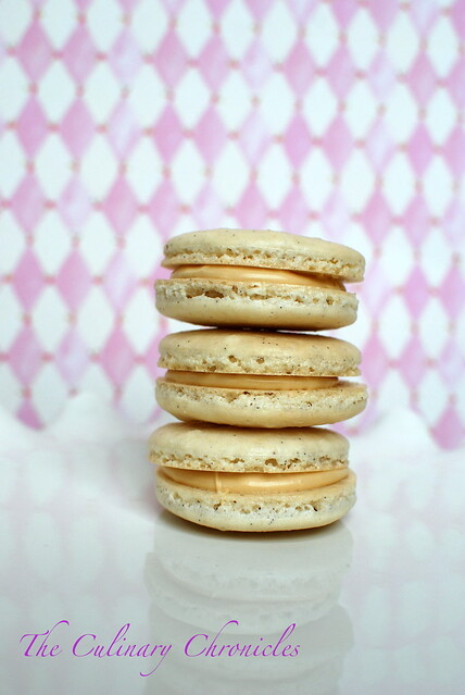 Vanilla Bean Macarons with Dulce de Leche Buttercream