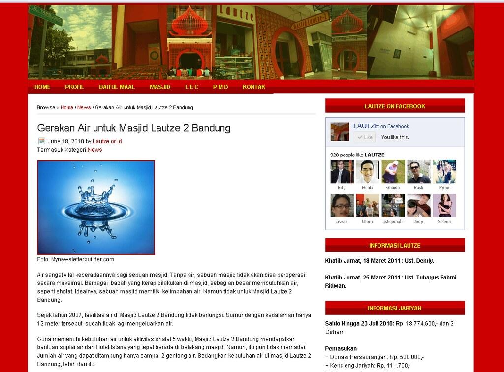 Gerakan Air Bersih Lautze.or.id