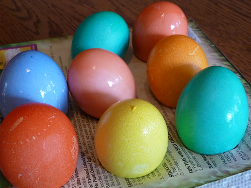 Drying eggs