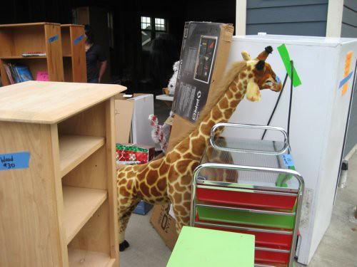 Large toy giraffe