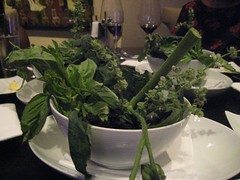 Basil bowl for the Tomato course - Dinner at Grant Achatz's Alinea in Chicago