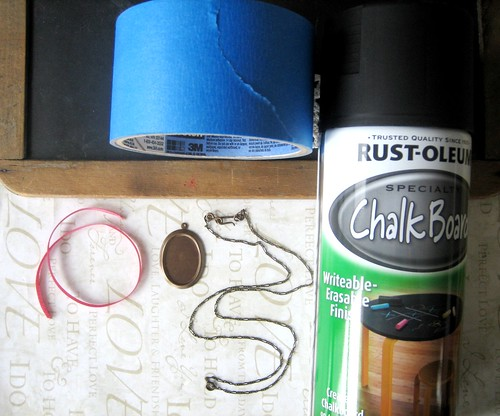 chalkboard necklace diy - supply roundup