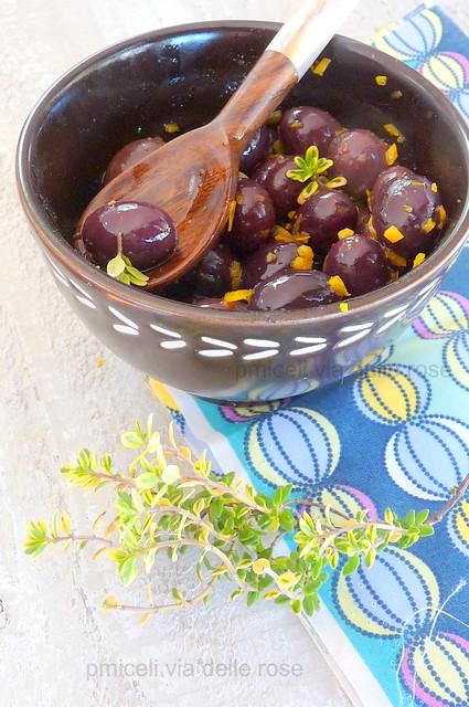 Olive di Gaeta al timo limone e arancia