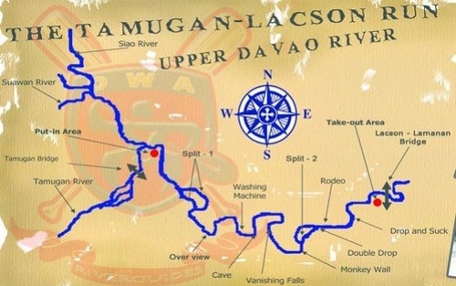 Upper Davao River Map
