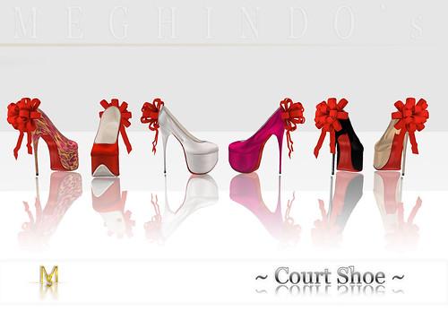 {Meghindo's} ~ Satin Court Shoe ~ colors