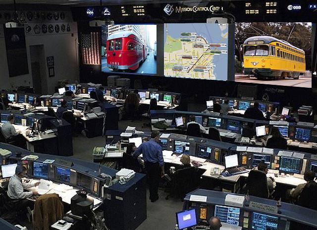 Inside F Line Mission Control