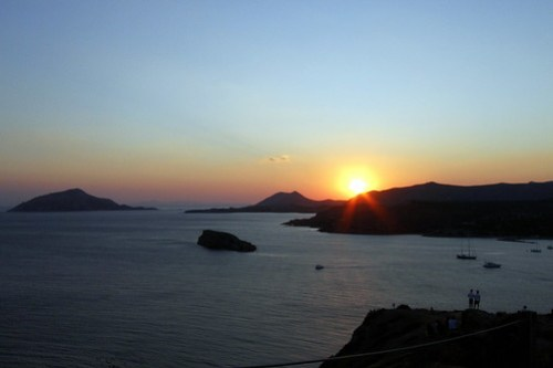 sunset at cape sounion