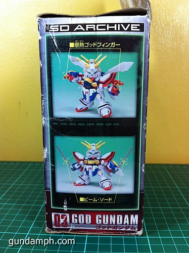 SD Archive God Gundam (7) Out Of Box Review