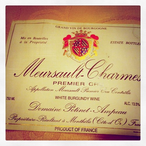 Meursault-Charmes 1er Cru 1995, Potinet-Ampeau by mengteck