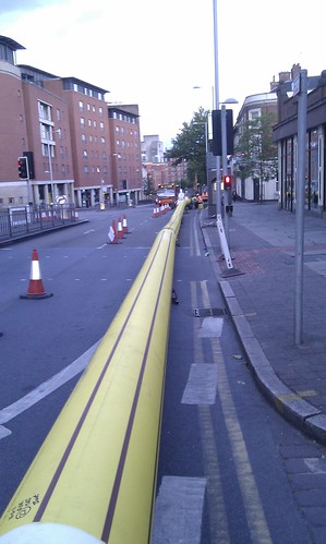 Gas main renewal on Mansfield Rd