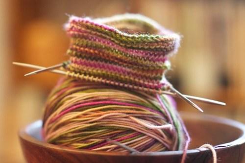 Waterlilies Sock: WIP