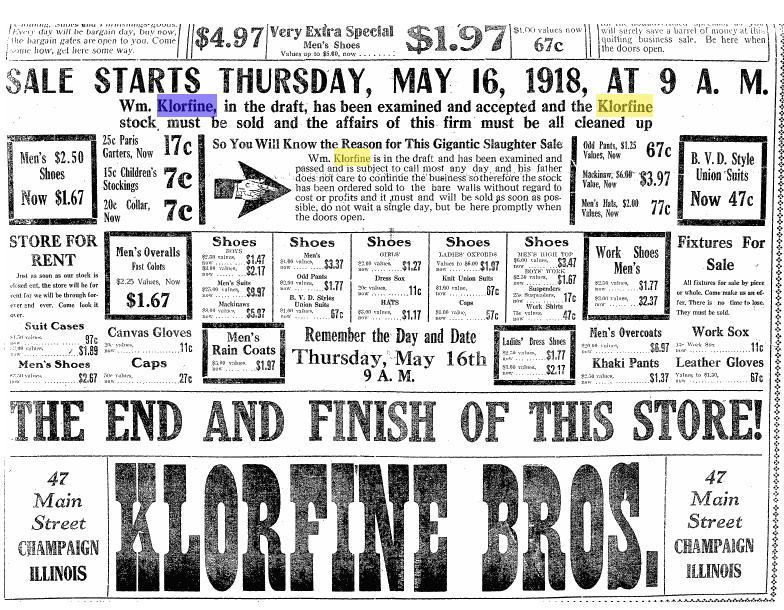 Klorfine Bros. Ad